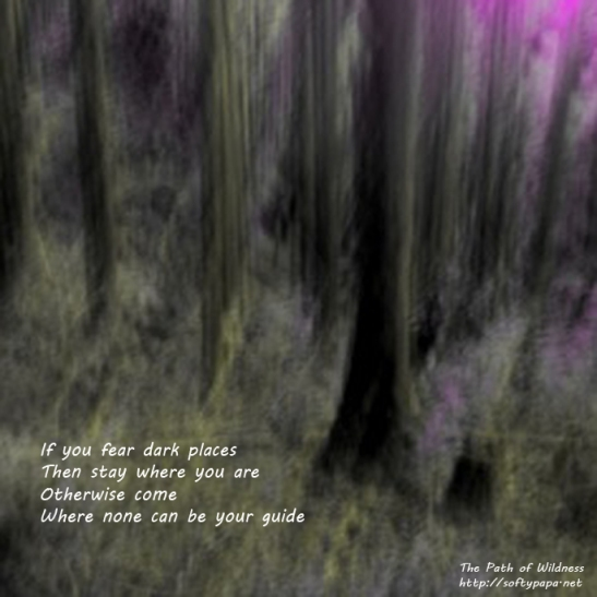 If you fear dark places - The Path of Wildness