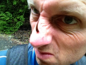 Japan mountain leech on my nose - Real Japan Monsters