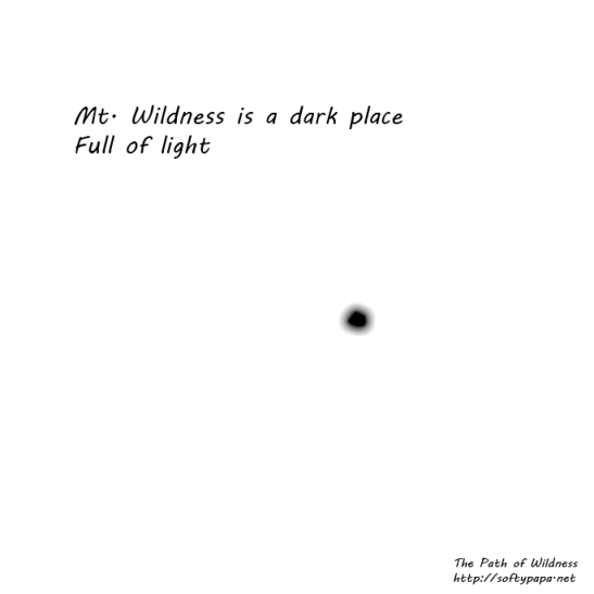 Mt. Wildness is a dark place Full of light - The Path of Wildness