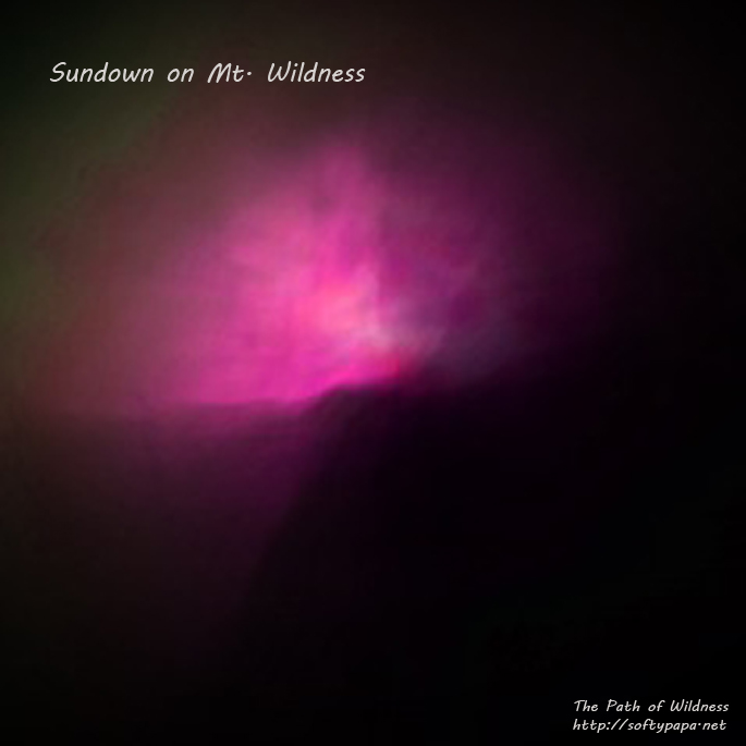 Sundown on Mt. Wildness - The Path of Wildness