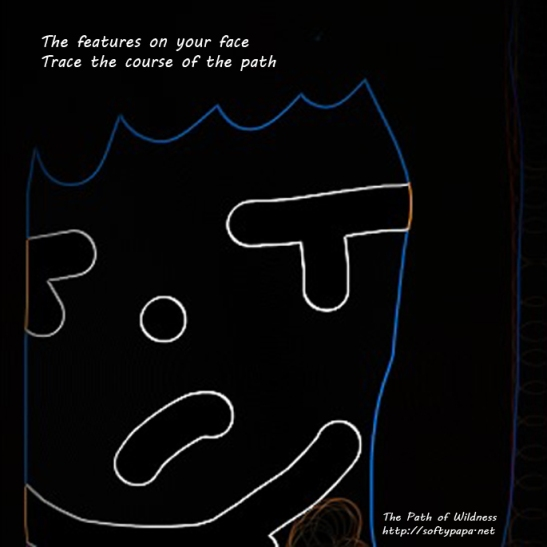 The features of your face Trace the course of the path - The Path of Wildness