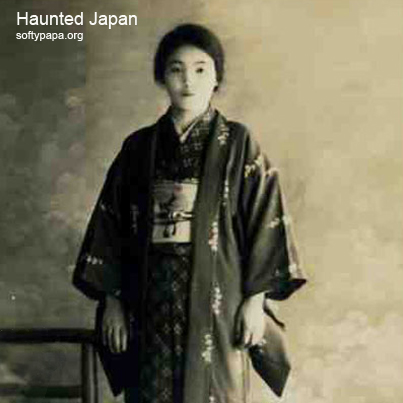 Ghost with beautiful young woman - Haunted Japan