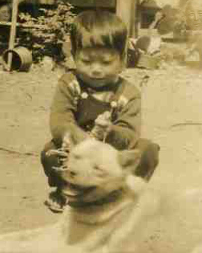 Haunted Photo - Ghost with boy and dog SPOILDER