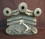 Antique Japanese roof tile