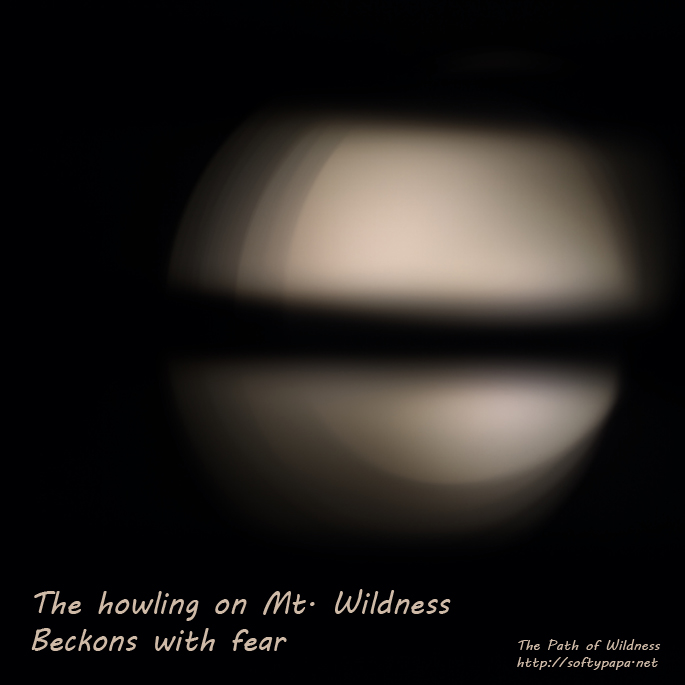 The howling on Mt. Wildness beckons with fear - The Path of Wildness