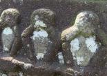 Three wise monkeys 三猿 - Walking in Japan 日本でのウォーキング