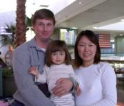 Our family in 2003, departing for a new life in Japan.