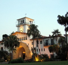 Santa Barbara courthouse Flickr image by Torbakhopper