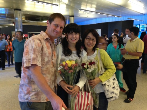 May 1st, 2015 Emily and Yumiko Bell arrive in the USA